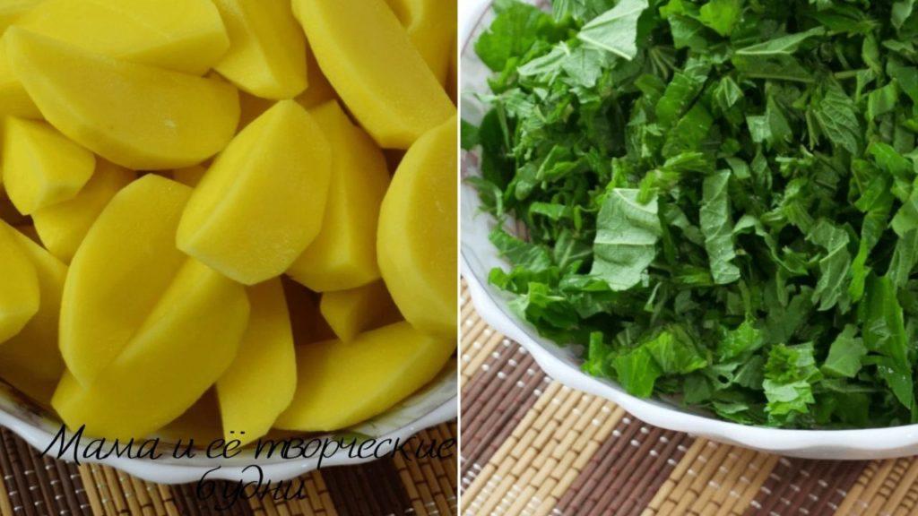Картофель для зелёного борща
